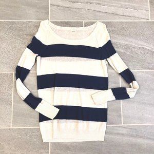 J Crew Striped Tissue Sweater